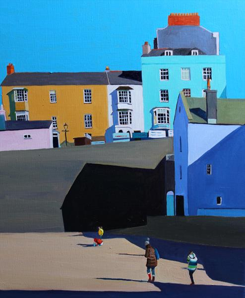 On Tenby Harbour Beach by Emma Cownie