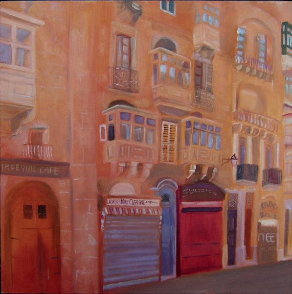 Afternoon in Valletta, Malta by Mary Stubberfield