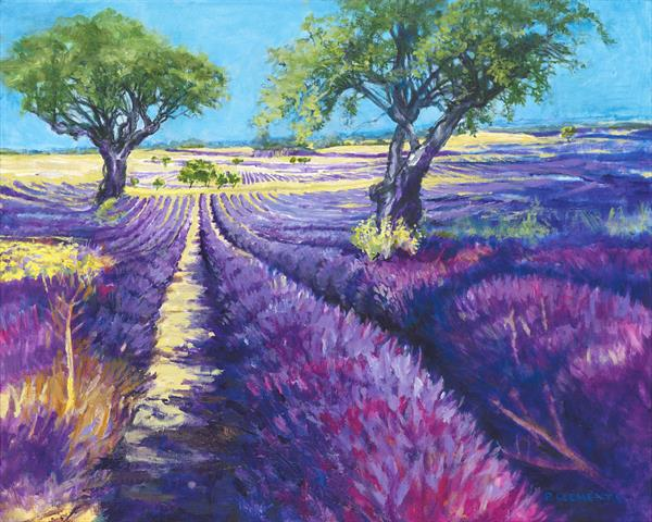 Lavender fields (Print) by Patricia Clements