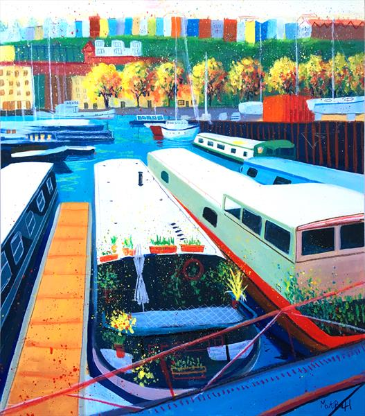 Narrow Boats by Martin Packford