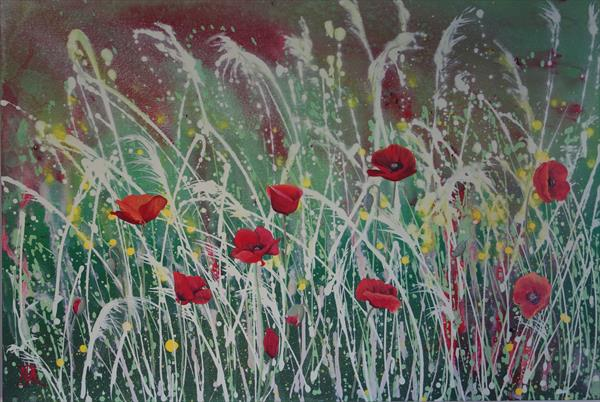 Poppies in a Cornfield by Nicola Allen
