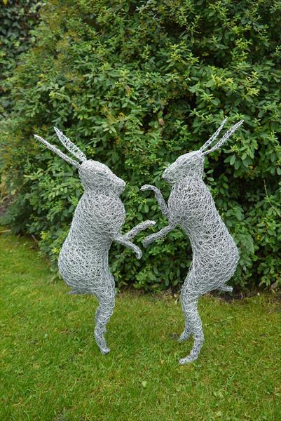 Boxing hares by Paul Nicholson