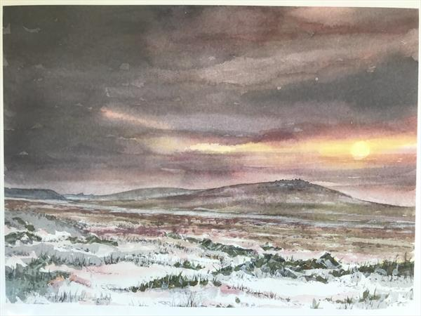 First snow on Dartmoor by Peter Blake