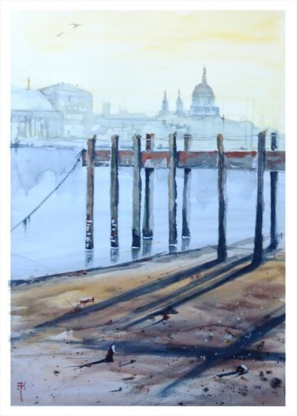 Thames View (unframed) by Alan  Harris