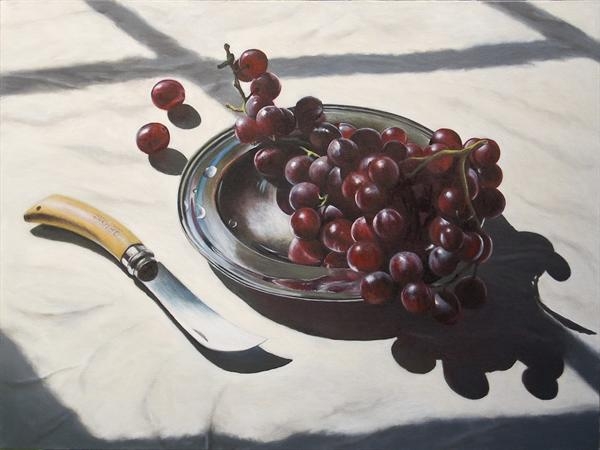 Grapes On a Silver Plate by Andrew Mcneile Jones