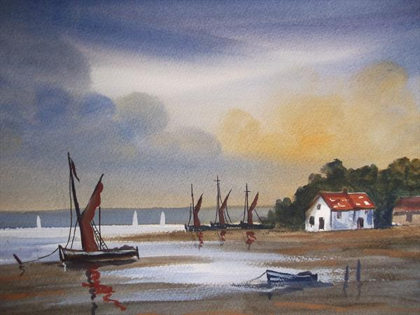 Pin Mill Suffolk by Steve Hawthorn