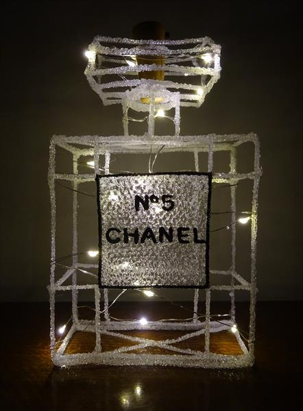 Chanel Bottle Light Sculpture by Paula Horsley
