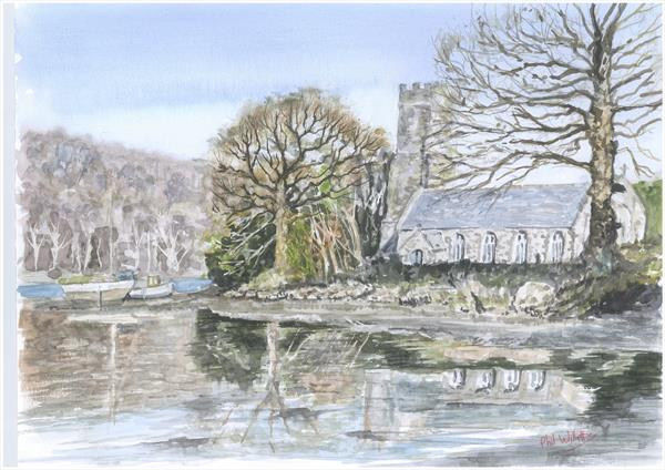 St Winnow Church River Fowey by Phil Willetts