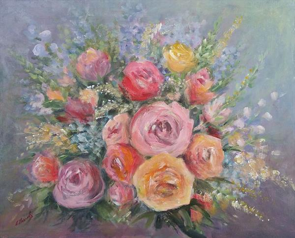 Vintage Roses by Andrea Thomas