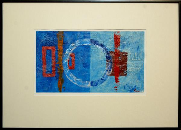 Abstract Variations # 54. Acrylic painting on paper. Framed. by Rumen Spasov