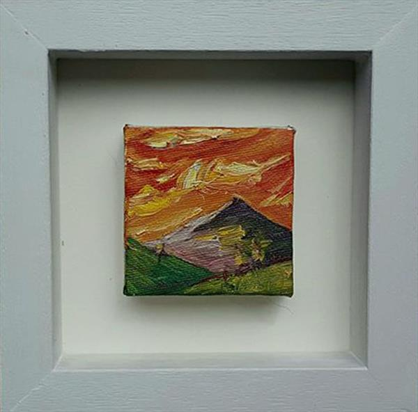 Sunset mountain by niki purcell