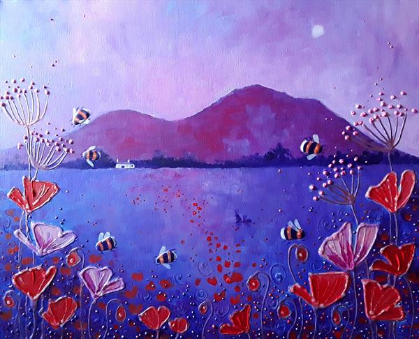 Purple Summer Evening by Angie Livingstone