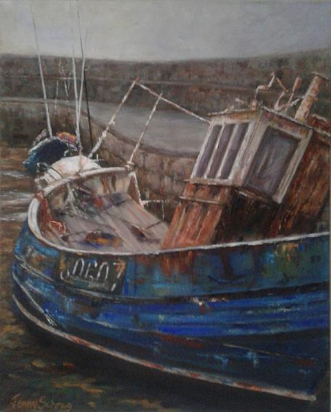 Rusty old fishing boat by Jenny Schrag