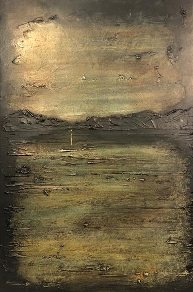 The Golden Night Light | Impressionistic Atmospheric Art by Kevin Hunter