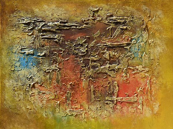 GOLDEN DREAMS - RICHLY TEXTURED ORIGINAL ABSTRACT  by Ada Van