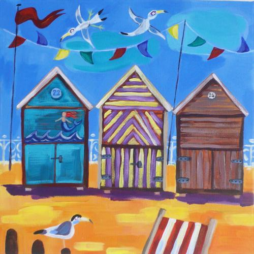 Beach Huts by Emily Skinner