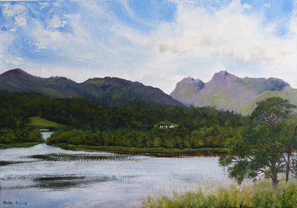 Elterwater, plein air sketch, 8/6/18 by Peter Brook