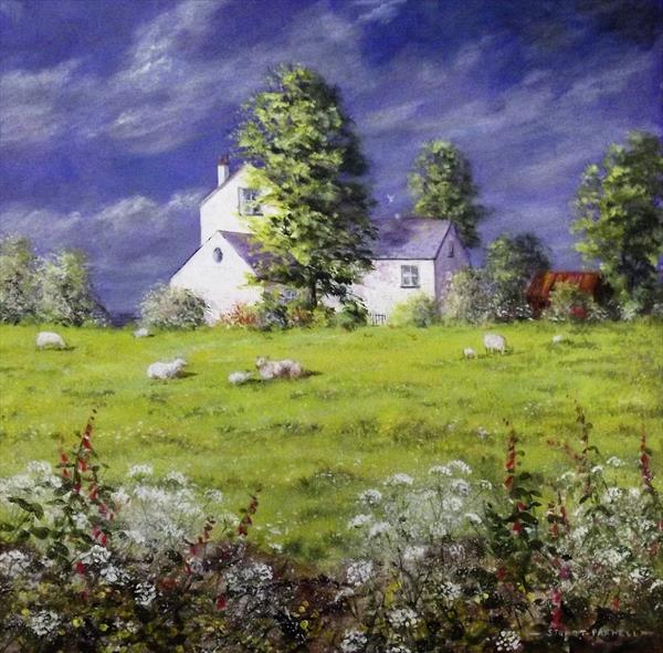 Farm before the storm by Stuart Parnell