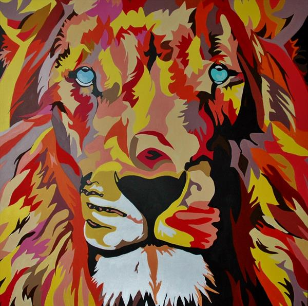 Raiona the Lion (large) by Andrew Snee