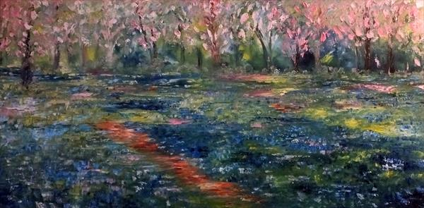 Blue Bells And Blossoms by Hester Coetzee