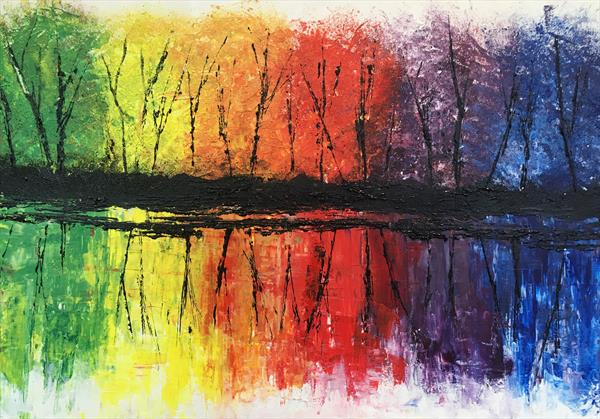 Rainbow reflections by Emma Napier