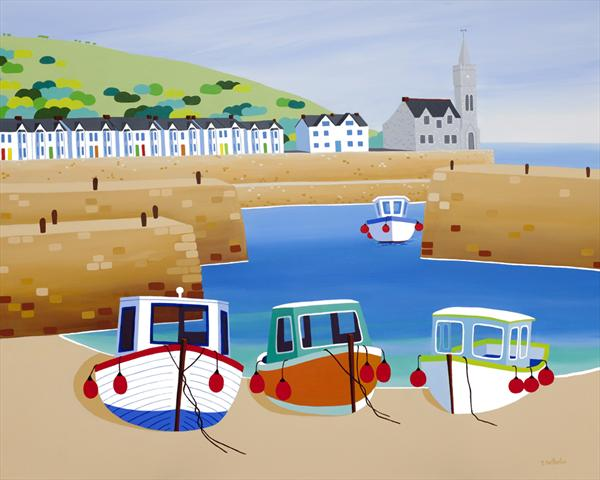 Porthleven Harbour by Shirley Netherton