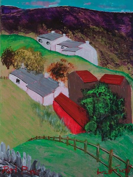 RED BARNS by Baz Farnell