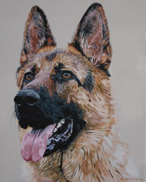 Alsatian by Kevin Oldham