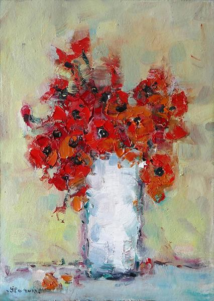 Wild poppies by Ioan Popei
