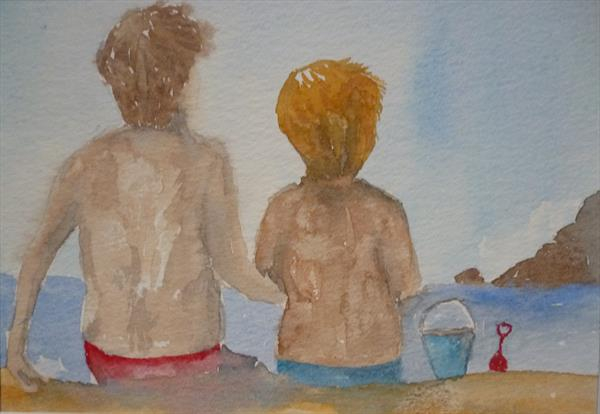 Brothers At The Beach  by Super Cosmic