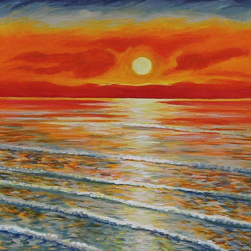 Sunset at Sea by Sandra Francis