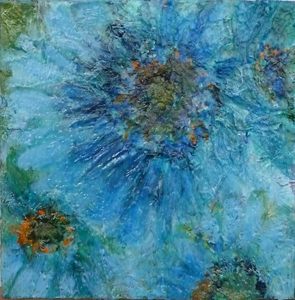 Big Blue Flower by Caroline Kaye