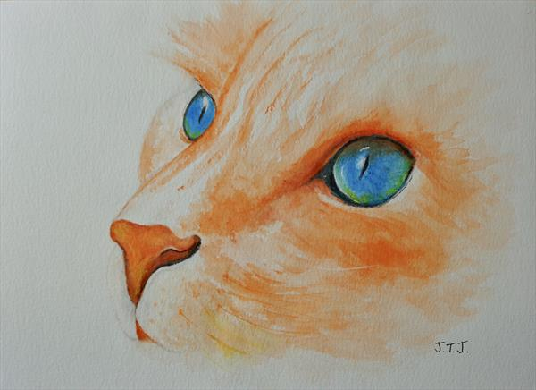 Remember it's Tea Time! Ginger Cat by Jean Tatton Jones