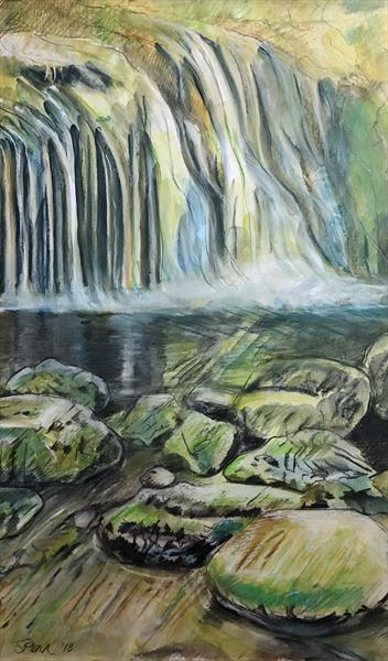 Blaen y Glyn Waterfall by Serena Phillips