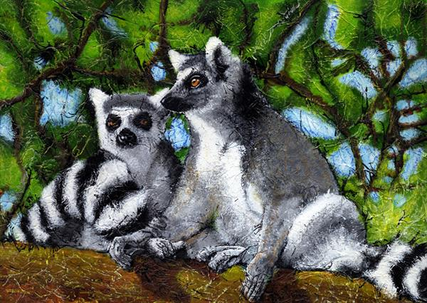 Ring Tailed Lemurs by Guy Wooles