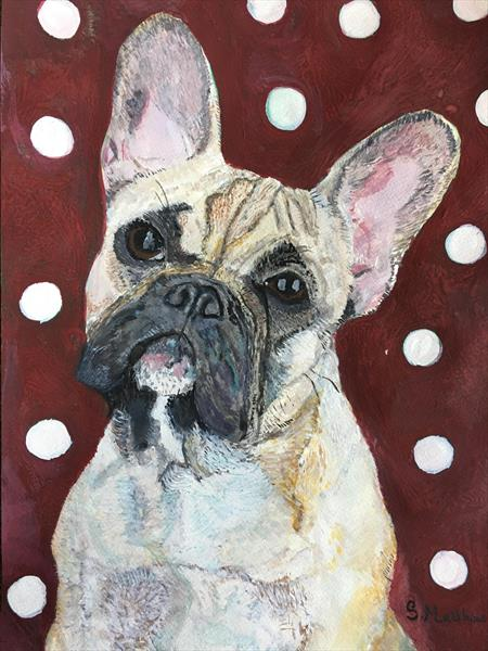The French Bulldog with Polka dots ( series  one ) by Sarah  Matthews