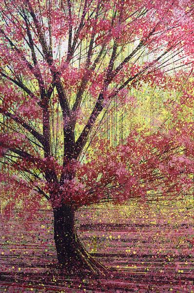 Red Tree In Spring