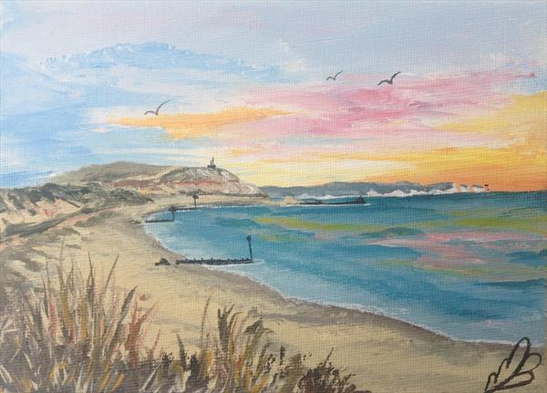 Hengistbury Head on Mini Canvas