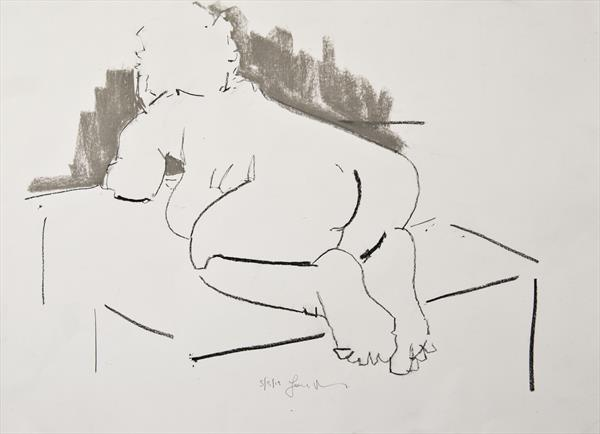 Nude Study of the Female Figure - Life Drawing No 376 by Ian Mckay