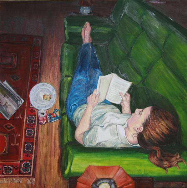 Girl Reading Abook