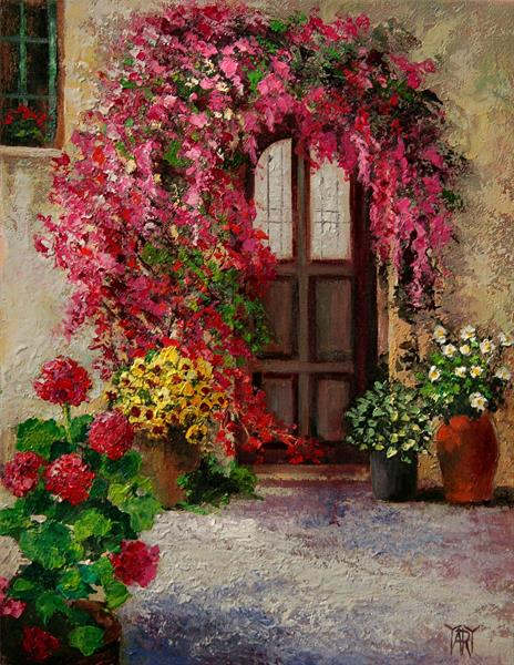 Bougainvillea Entry - special price for JANUARY by Yary Dluhos