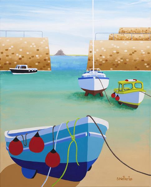 Low Tide at Mousehole by Shirley Netherton