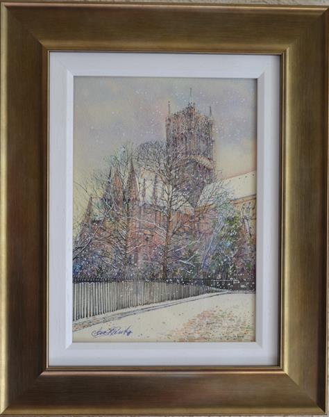 Lincoln Cathedral, Colours of Winter by Carl Paul