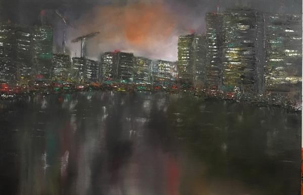 City lights  by Damion  Maxwell