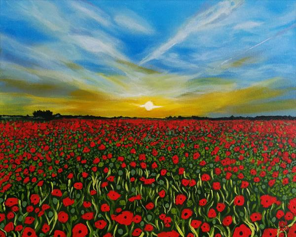 Poppy field  by Kelly  White