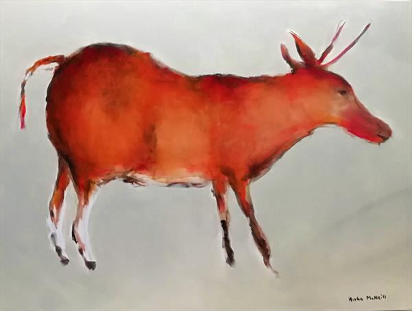 Cave art - Deer from Lascaux by Mrs Mirka McNeill Farmer