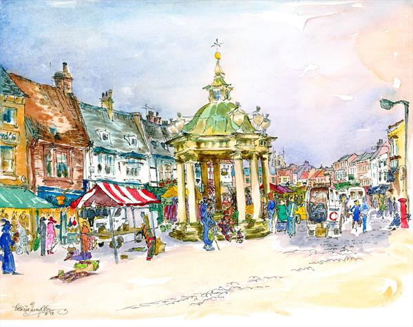 'END OF THE DAY' - in the Saturday Market, BEVERLEY, East Yorkshire by Patricia Edith Mary Thompson
