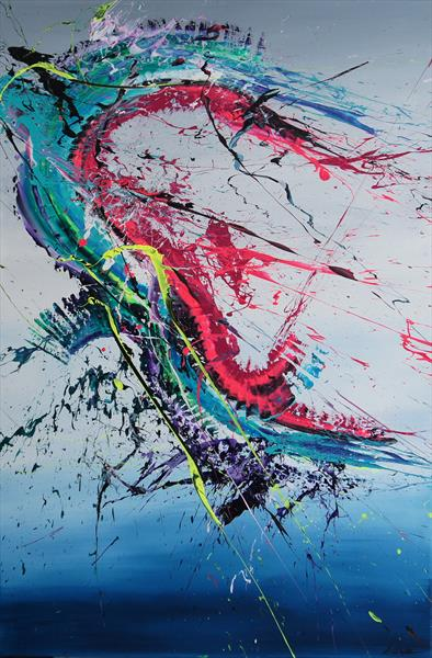Ripped-tile (Spirits Of Skies 096068) - 80 x 120 cm - XXL (32 x 48 inches) by Ansgar Dressler