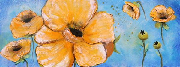Yellow Flowers by susan wooler