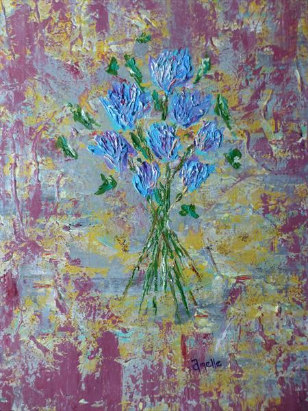 Blue Floral  by Amelle Eley
